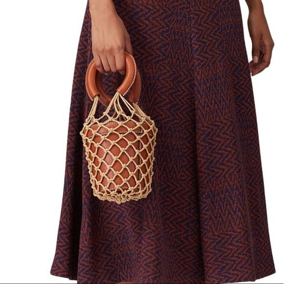 Staud brown mini moreau bucket summer bag rope